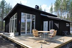 pictures of a pitched roof on double wide   Trend Contemporary   Scandinavian Log Cabin Supply and Construction