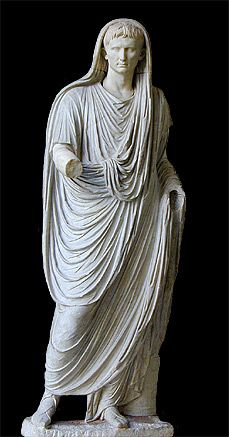 statue of Augustus as pontifex