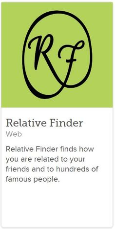Relative Finder Makes Family Connections