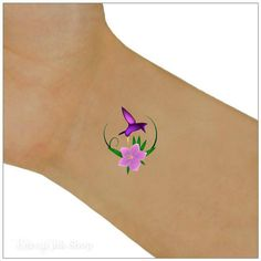 Hummingbird Temporary Tattoo 2 Wrist Tattoos You will receive 2 tattoos and full instructions. MATCHING VINYL NAIL DECALS AT THE LINK BELOW.