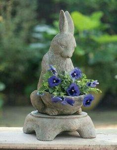 Statuary in the garden...so sweet.