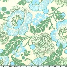 Amy Butler Midwest Modern Fresh Poppies Green  Item Number: BI-026  Our Price: $8.98 per Yard