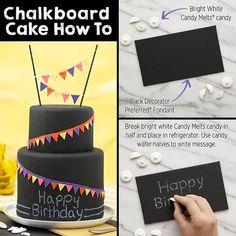 Chalkboard cake how-to