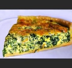 Crust-less Spinach Quiche