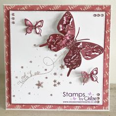 Stamps by Chloe - Swirly Butterfly Trail - - Stamps By Chloe Swirly Butterfly Trail - Chloes Creative Cards Chloes Creative Cards, Stamps By Chloe, Create And Craft Tv, Paper Crafts, Diy Crafts, Stencil Diy, Butterfly Cards, Decoration, Cardmaking