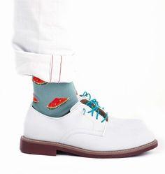 Watermelon socks...very southern..very risky..very cool