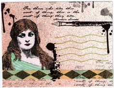 Pretty Woman Mail Art Envelope by PaperMoonPalace on Etsy, $4.00