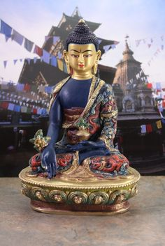Dharmashop.com - Spectacular Hand Painted Medicine Buddha Statue, $599.00 (http://www.dharmashop.com/spectacular-hand-painted-medicine-buddha-statue/)