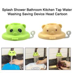 Splash Shower Bathroom Faucet Shower Sprinkle Head Nozzle Faucet Water Saver Anti T Cartoon Kitchen Tap Water Saving Device