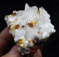 110g Sharp yellow Orpiment on Calcite on red Realgar Shimen China CM631994 #UnbrandedGeneric