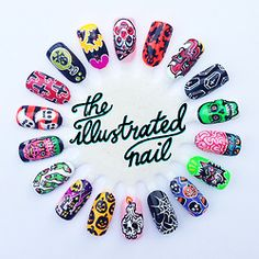 HALLOWEEN nails by theillustratednail.tumblr  #nails #nailart #halloween