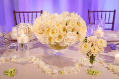 Trail of Petals on Head Table    Photography: Brian Leahy Photography   Read More:  http://www.insideweddings.com/weddings/a-classic-romantic-celebration-with-lush-florals-in-beverly-hills/973/