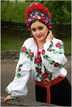 Ukrainian girl with head dress