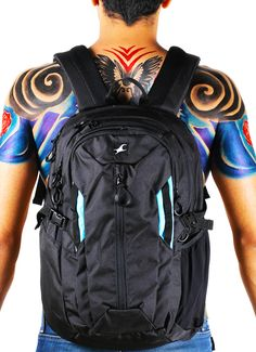 WHEN YOU WEAR INDELIBLE INK AND A BACKPACK BUILT TO GRAB ATTENTION, IT IS A NO SHIRT REQUIRED SITUATION.  #FTBLOG #Fastrack #Backpack #Bodyart