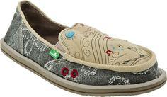 Womens Sanuk Shoes - Sanuk Scribble (Beige) - love my Sanuks!!