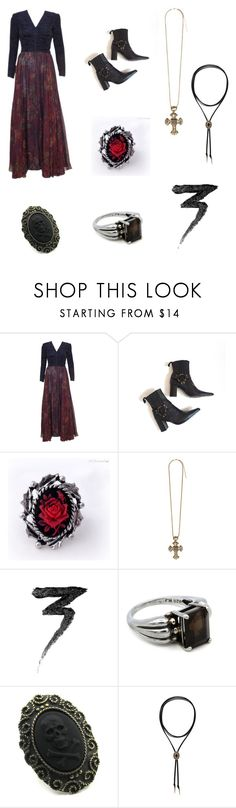 """🖤"" by irissa997 ❤ liked on Polyvore featuring Enrico Antinori and Manic Panic NYC"