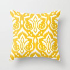 Ikat Damask Throw Pillow