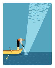 Flashlight - Artwork by Illustrator Craig Frazier