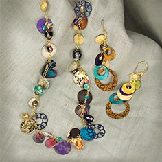 Love Spell #Necklace, full of color and life! Handmade in Northern California by Holly Yashi Jewelry