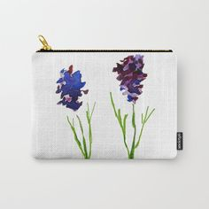 Lavender sprigs Carry-All Pouch by wildseadesign Organize Your Life, Pouches, Art Supplies, Carry On, Zip Around Wallet, Lavender, Coin Purse, Ipad, Exterior