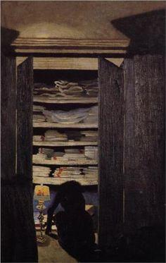 Woman Searching through a Cupboard - Felix Vallotton 1901