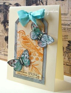teal and orange tag card