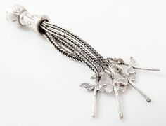 Tassel Pendant with Snake Chain Strands & by LylaSupplies on Etsy, $6.50