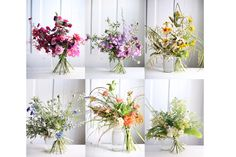 I LOVE these hand-tied wildflower bouquets!  Styling | Amy Merrick