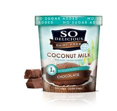 Good coconut milk ice cream. Added flavors and additives.