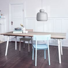 Split matbord - Split matbord - ek, vita ben