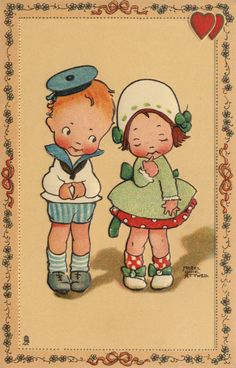Instant download Beautiful Mabel Lucie Attwell reproduction print; zo lief..........ja toch.............       lb xxx.