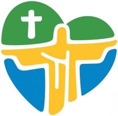 Example of good design - World Youth Day Rio 2013 logo Path To Heaven, World Youth Day, Catholic Diocese, Pope John Paul Ii, Catholic Priest, Worship God, Church Design, Media Design, Pilgrimage
