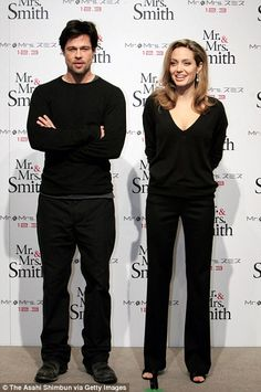 Pitt and Jolie promoting Mr. and Mrs. Smith...