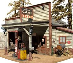 https://flic.kr/p/oAkTm | 1/48th scale country gas station | Rural service in miniature (O scale)