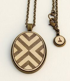 """Geometric Necklace- """"Pointy"""" Design - Laser Cut and Etched Wood"""