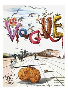 Vogue Cover, Salvadore Dali - April 1944    one of the greatest art piece of an modern surealisme