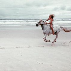 Instagram media by zwimzuit - Wow! Can't you just feel the wind and speed in this adorable action shot from @mckeiracumming riding bareback on her Arab x Quarter Horse, Smokey, wearing @billabongwomens swimmers on Cabarita Beach, NSW. Her sport is horse vaulting which requires such strength, poise and balance. Go look at her IG feed the vaulting is awsome. #cabaritabeach #arabxquarterhorse #arabquarterhorse #beachhorse #bareback #barebackriding #horsevaulting #horse #greyhorse #gallop #...
