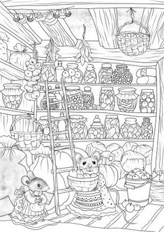 Thrifty Mice - Printable Adult Coloring Page from Favoreads Coloring book pages for adults and kids Coloring sheets Coloring designs Forest Coloring Pages, Abstract Coloring Pages, Printable Adult Coloring Pages, Cute Coloring Pages, Flower Coloring Pages, Animal Coloring Pages, Free Coloring, Coloring Sheets, Coloring Books