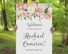 Printable Wedding Welcome Sign Rustic Whimsical DIY Printable
