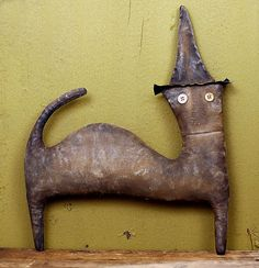 Primitive halloween   Extreme Primitive Halloween Cat Doll   Flickr - Photo Sharing!