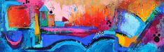 Imagine, schilderij van Kunstenares Mir, Mirthe Kolkman van der Klip | Abstract | Modern | Kunst Abstract, Stel, Painting, Art, Modern Art, Painting Art, Paintings, Kunst, Paint