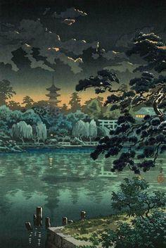 Tsuchiya Koitsu. Ueno Shinobazu Pond (468x700, 267Kb)