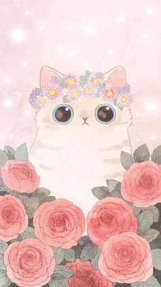 Wallpaper art, wallpaper gatos, cute cat wallpaper, kawaii wallpaper, w Wallpaper Gatos, Tier Wallpaper, Cute Cat Wallpaper, Kawaii Wallpaper, Animal Wallpaper, Wallpaper Awesome, Wallpaper Art, Wallpaper Fofo, Beach Wallpaper