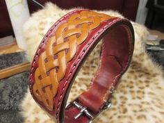 Large dog collar custom leather 17 leather dog by AcrossLeather