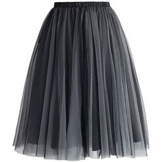 Chicwish Amore Mesh Tulle Skirt in Smoke (130 BRL) ❤ liked on Polyvore featuring skirts, bottoms, black, chicwish skirt, mesh skirt, eyelet skirt, tulle skirts and knee length tulle skirt