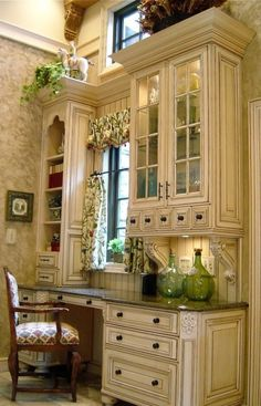 Take a look at our pick of the best french country kitchen designs and find the dream scheme for the heart of your country home. House Design, New Homes, Traditional Home Office, House Interior, French Country Kitchen, Home, Country Kitchen Designs, Traditional House, Kitchen Desk Areas