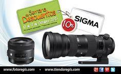 Aprovecha una semana más En Foto Regis del 12 al 17 de Octubre del 2015... En productos seleccionados y en todas las Sucursales. Semana de descuentos Sigma. Más info directamente en Sucursales Foto Regis.
