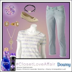 This Serene Sophisticate look was inspired by Downy Infusions Lavender Serenity and Downy Unstopables Lush. The cloud-grey blouse will make you feel like your living on cloud 9! To shop this look, visit the LC Lauren Conrad collection available only at Kohl's. To register for the #ClosetLoveAffair sweepstakes visit https://downy.promo.eprize.com/pinterest/.