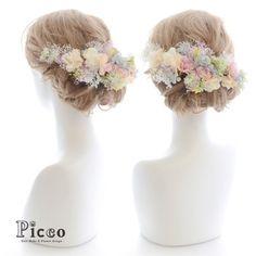 Gallery 167 Order Made Works Original Hair Accesory for WEDDING #byPicco 淡い #シャーベットカラー の #小花 で包んだ #花冠 ふう #髪飾り #結婚式 #二次会 用の #ドレス に合わせた #オリジナル #オーダーメイド 日本一かわいいプレ花嫁のための結婚式準備サイト『 #marry (マリー)』さまにご紹介いただきました!ありがとうございます#感謝# http://marry-xoxo.com #花飾り#ウェディングドレス #ブライダル #造花 #ヘアセット #アップスタイル #hairdo #flower #hairaccessory #wedding #picco