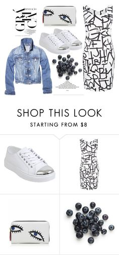 Blueberry Eyes by youaresofashion on Polyvore featuring Dr. Martens, Lulu Guinness and whitesneakers